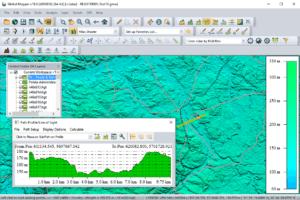 Global Mapper 18 Path profile