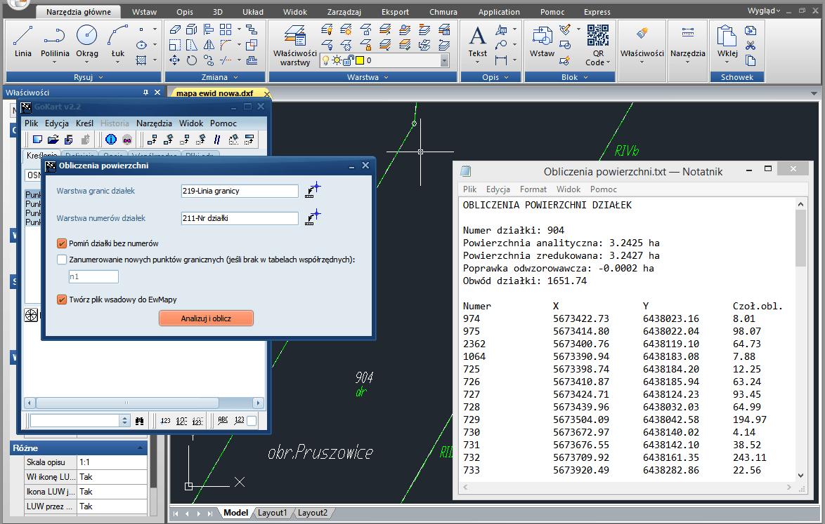 gokart-obliczenia-powierzchni-dzialek
